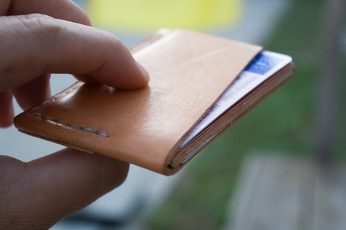 "Image of Spruce Goose — ""Natural Veg Tan"" Italian Cowhide Leather Wallet"