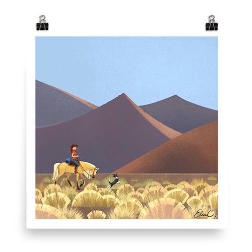 Image of Desert Mountain Print