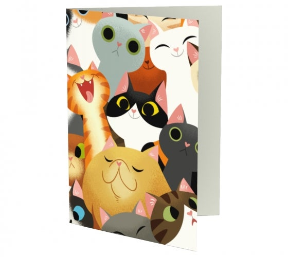 Image of Cat Crowd Greeting Cards (Set of 3)