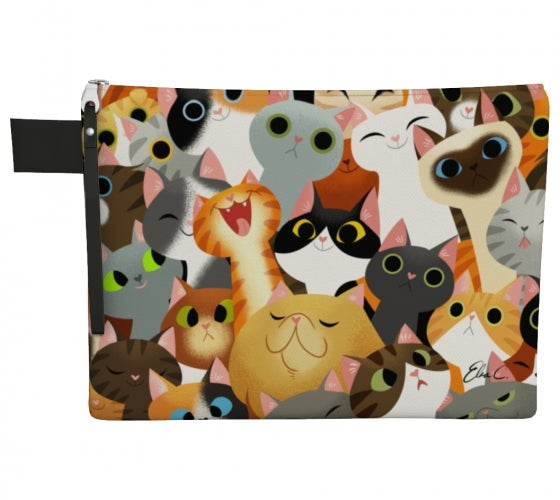 Image of Cat Crowd Pencil Bag