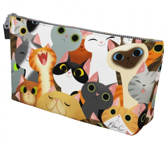 Image of Cat Crowd Makeup Bag