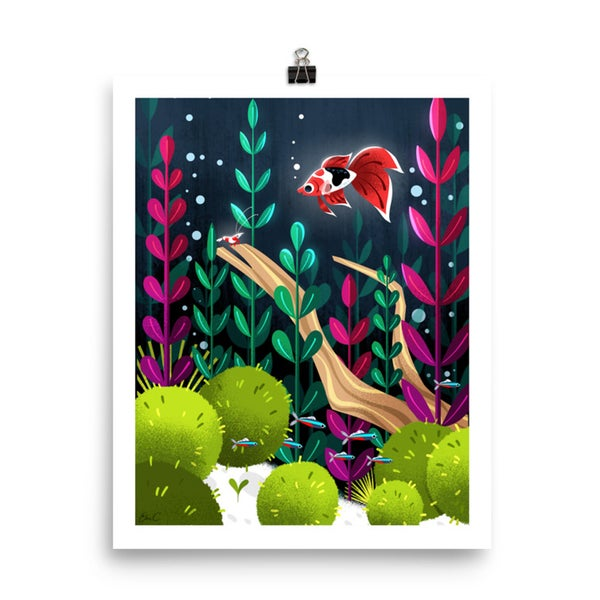 Image of Freshwater Aquarium Print