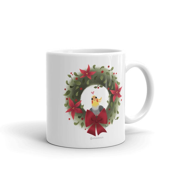 Image of Cockatiel Holiday Mug