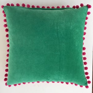 Image of In the Windows Cushion with pom poms