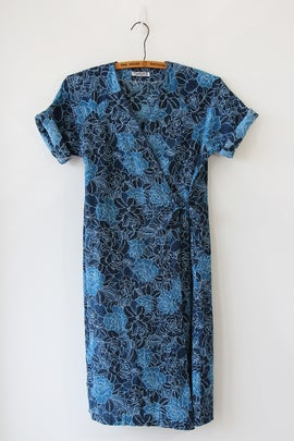 Image of SOLD Deep Rose Sea Wrap Dress