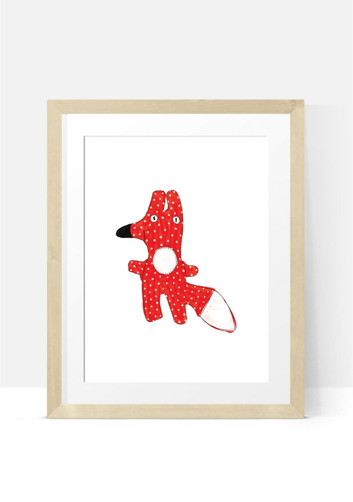 Image of Fox toy A4 Print