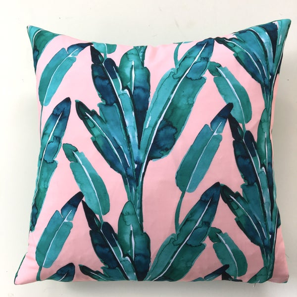Image of Blush in the Jungle cushion