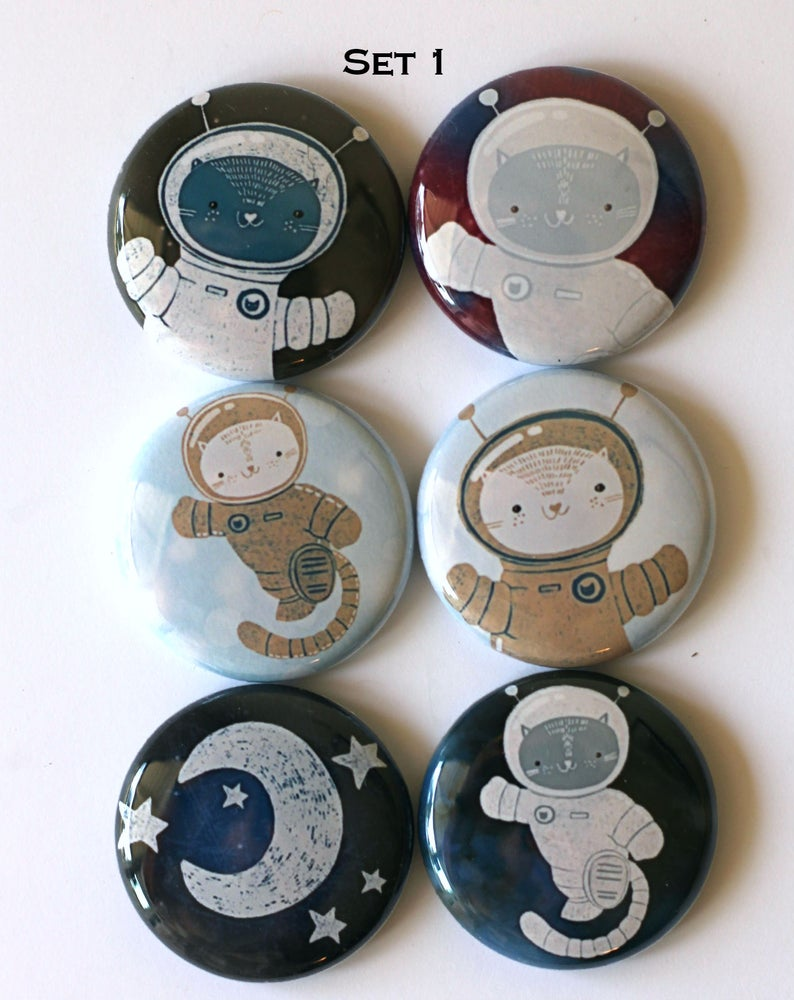 Image of Space Cats Flair Buttons