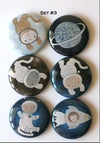 Space Cats Flair Buttons