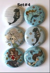 Mermaid 2 Flair Buttons