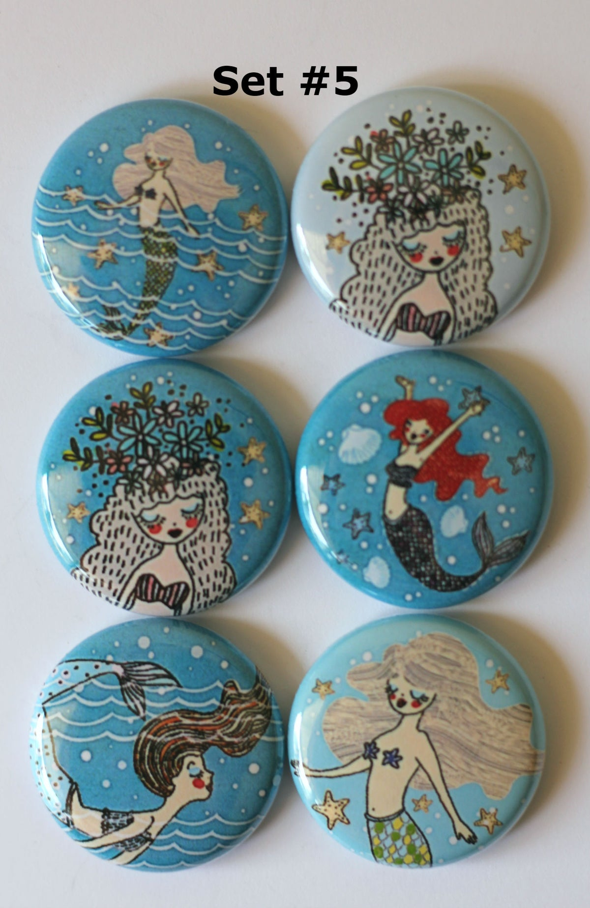 Image of Mermaid 2 Flair Buttons