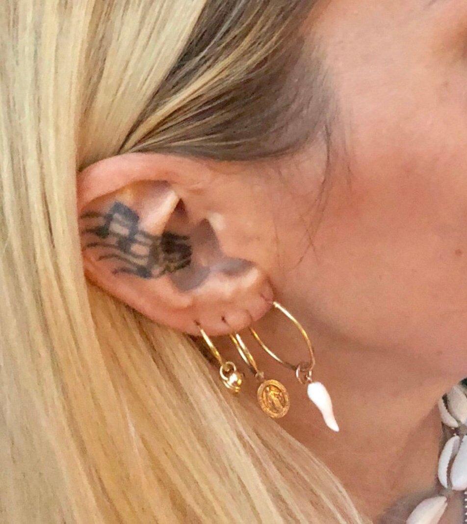 Image of Mono orecchino ciondolo personalizzato oro