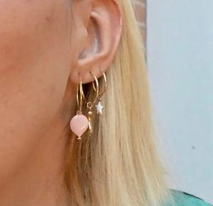 Image of Mono orecchino oro ciondolo personalizzato