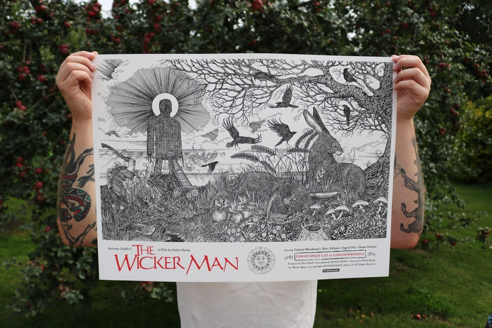 Image of The Wicker man official poster. Main Edition Artist Proof signed by Britt Ekland