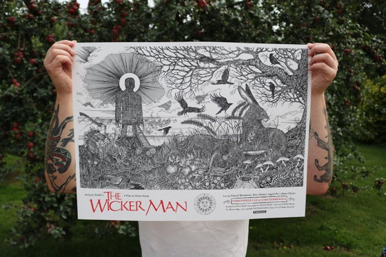 Image of The Wicker man official poster. Main Edition Artist Proof