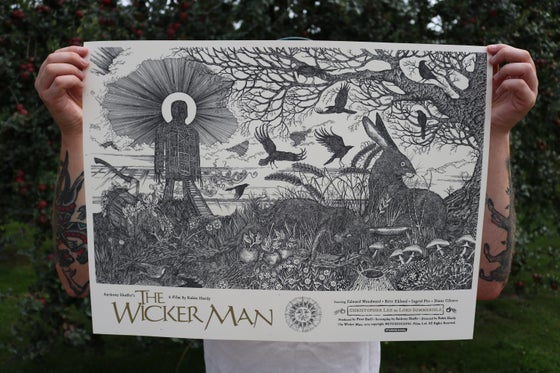 Image of The Wicker Man official poster. Artist proof copies  (variant)