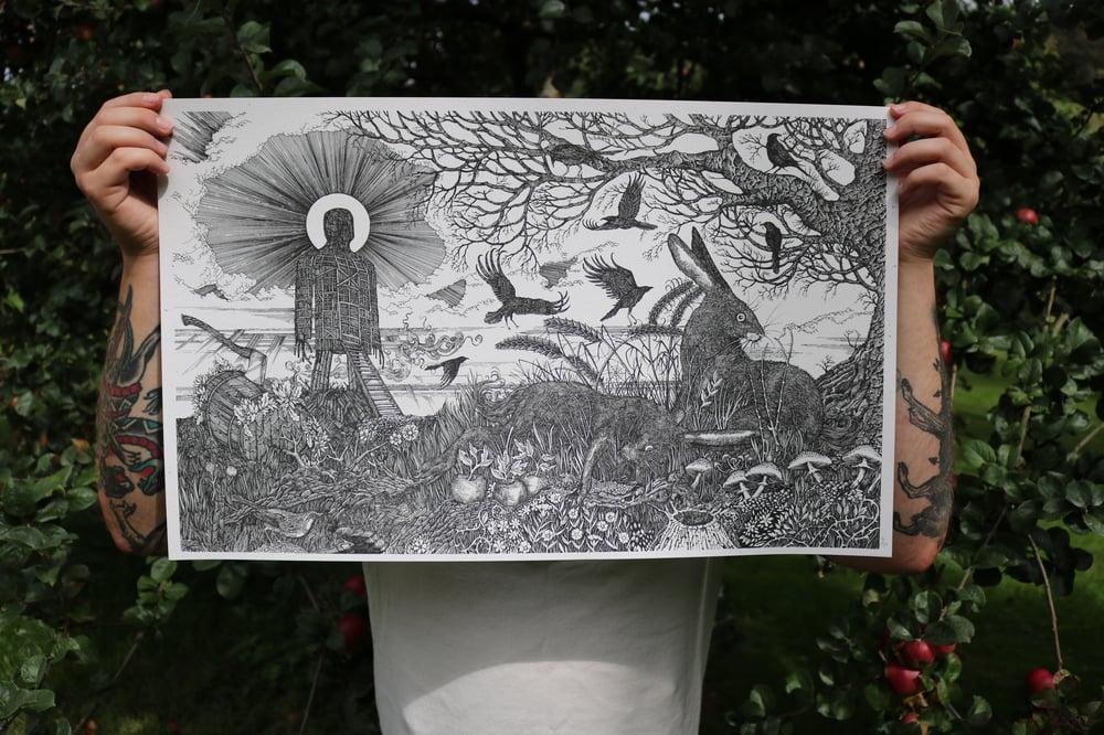 Image of The Wicker Man art print.