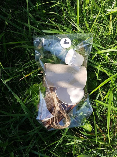 Image of Dried Delights Recycled Enrichment Toy (and make your own option)