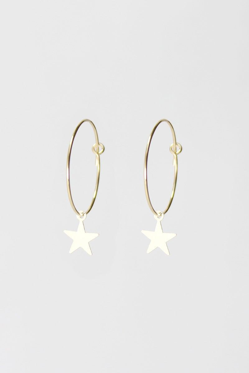 Image of 'Seeing Stars' hoop earrings