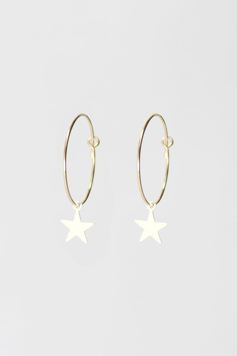 Image of 'Seeing Stars' hoop earrings