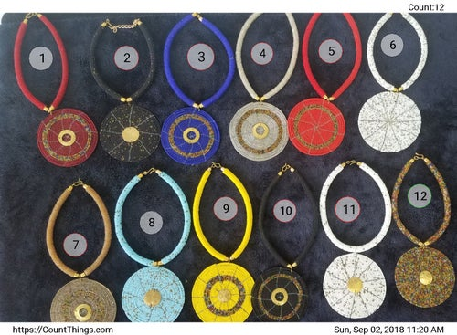 Image of One disk necklace