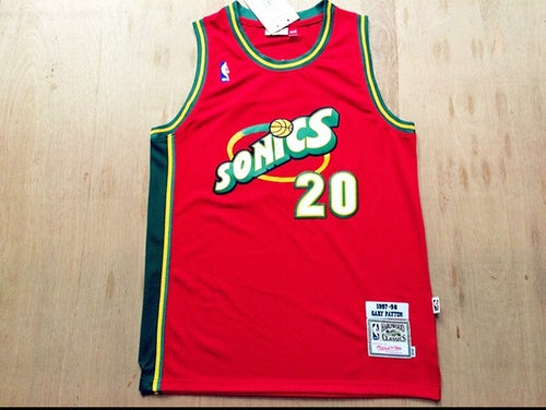 Image of Gary Payton Seattle SuperSonics Jersey