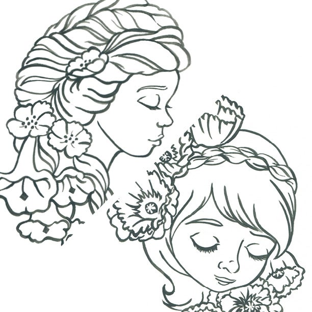 Image of Original Artwork: Your choice: floral linework study