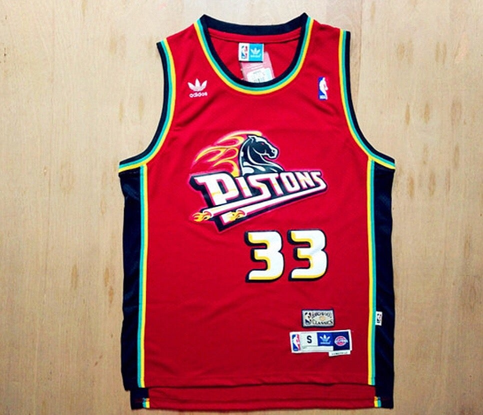 Image of Grant Hill Detriot Piston Jersey