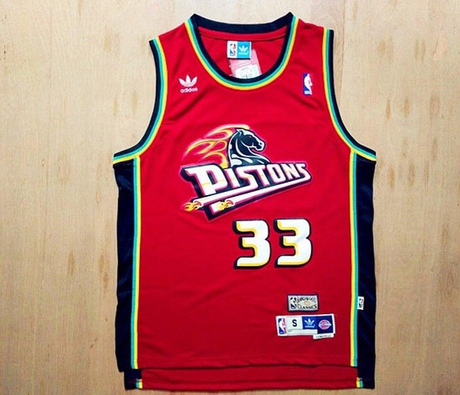 Image of Grant Hill Detriot Piston Jersey