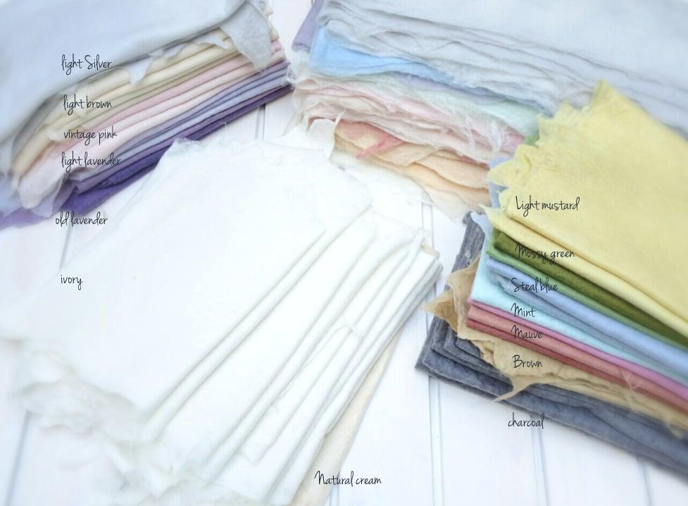 Image of Merino Silk Felted Layers