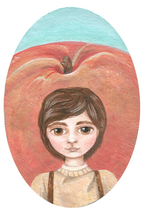 Image of Original Artwork: Your Choice: Mowgli or James and the Giant Peach