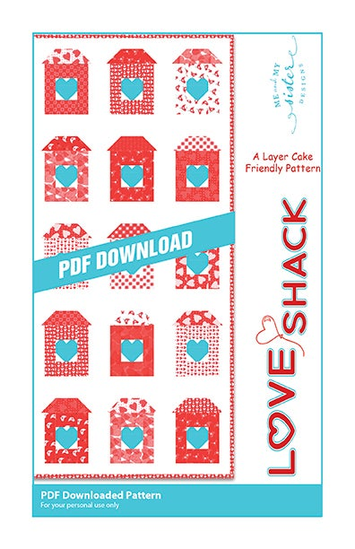 Image of Love Shack PDF pattern