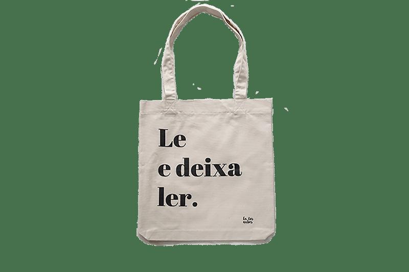 """Image of Bolsa tote algodón reciclado """"Le e deixa ler"""""""