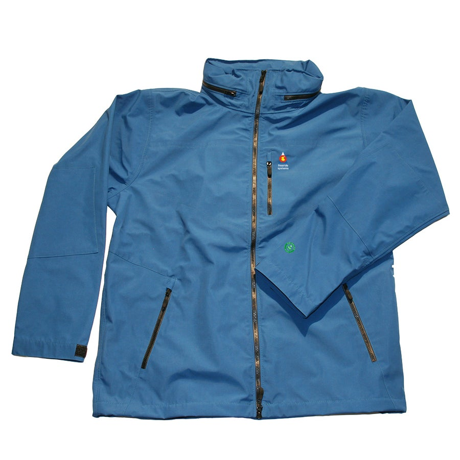 Image of Antero 5 New ! Zip in Hood to Collar Ice Blue Neoshell Jacket Made in Colorado USA