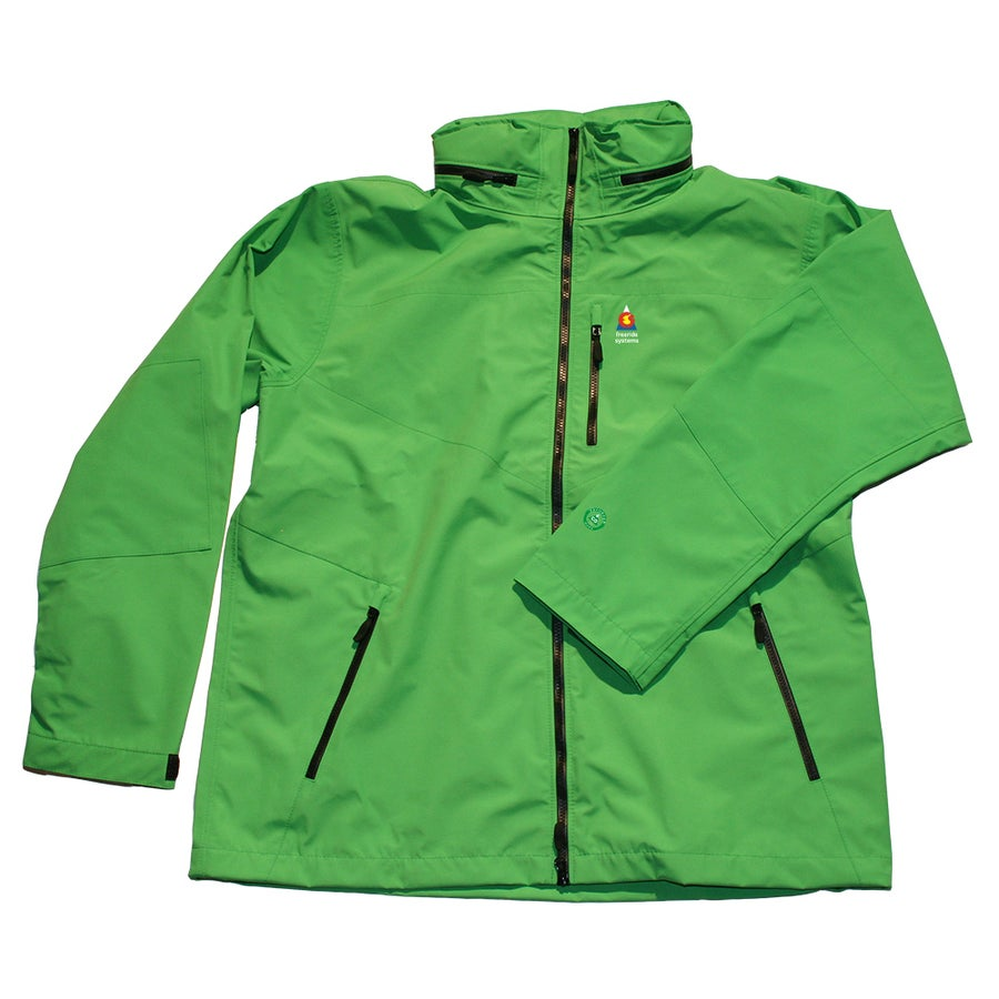 Image of Antero 5 New ! Zip in Hood to Collar Green Neoshell Jacket Made in Colorado USA