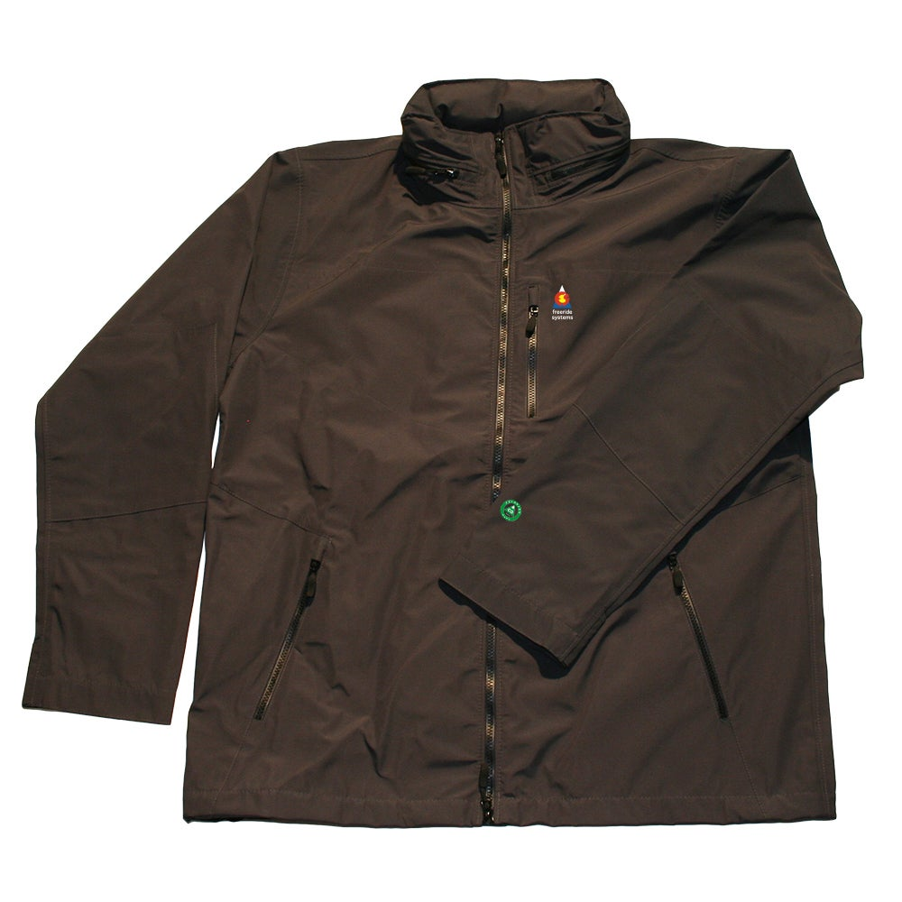 Image of Antero 5 New ! Zip in Hood to Collar Charcoal Neoshell Jacket Made in Colorado USA