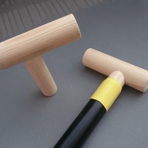 Image of Asymmetric Wooden T-Grips for Canoe Paddles
