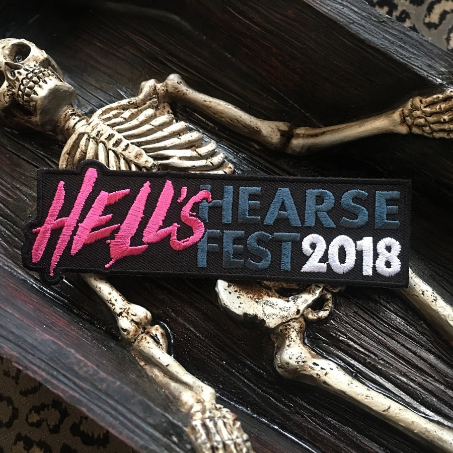 "Image of Hell's Hearse Fest 2018 5"" patch"
