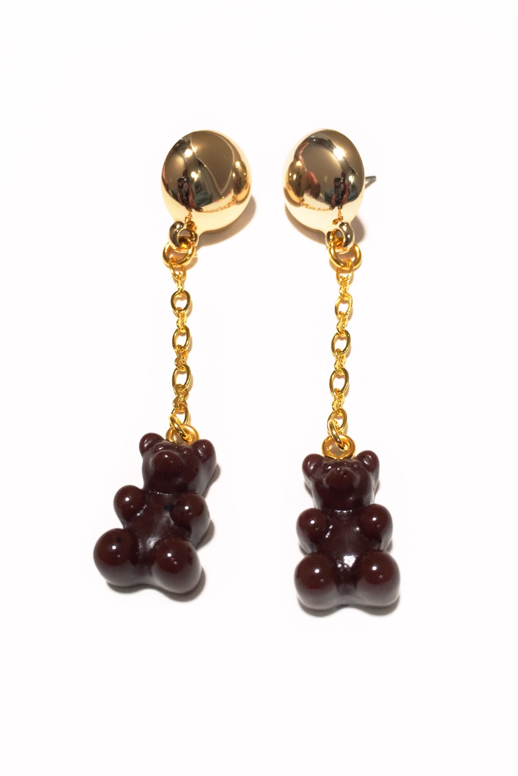 Image of Chocolate Gummy Bear Earrings