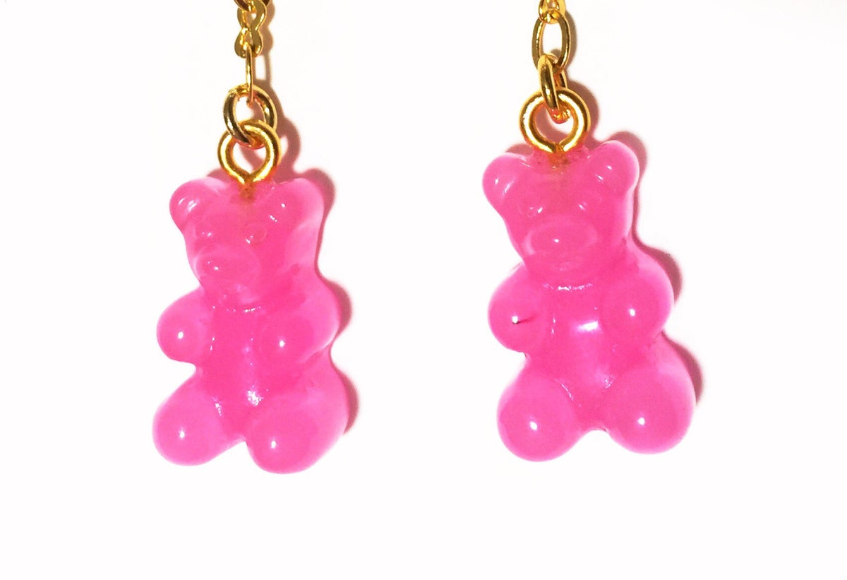 Image of Pink Lemonade Gummy Bear Earrings