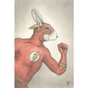 Image of Original Artwork: Flash Cosplay Bunny