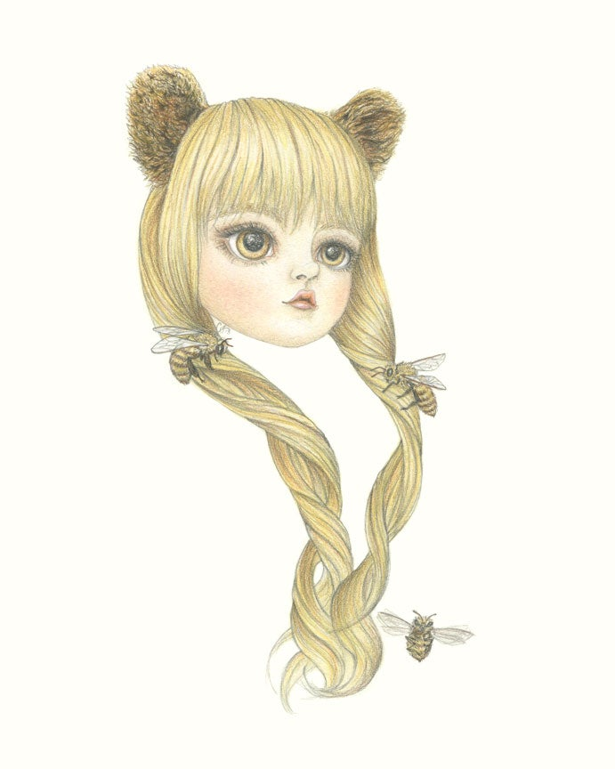 Image of Original Artwork: Bear Ears Girl