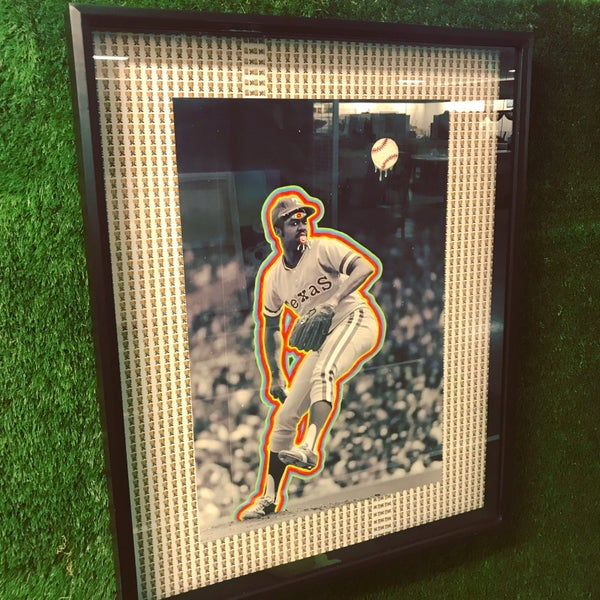 Image of Dock Ellis D Shadow Box