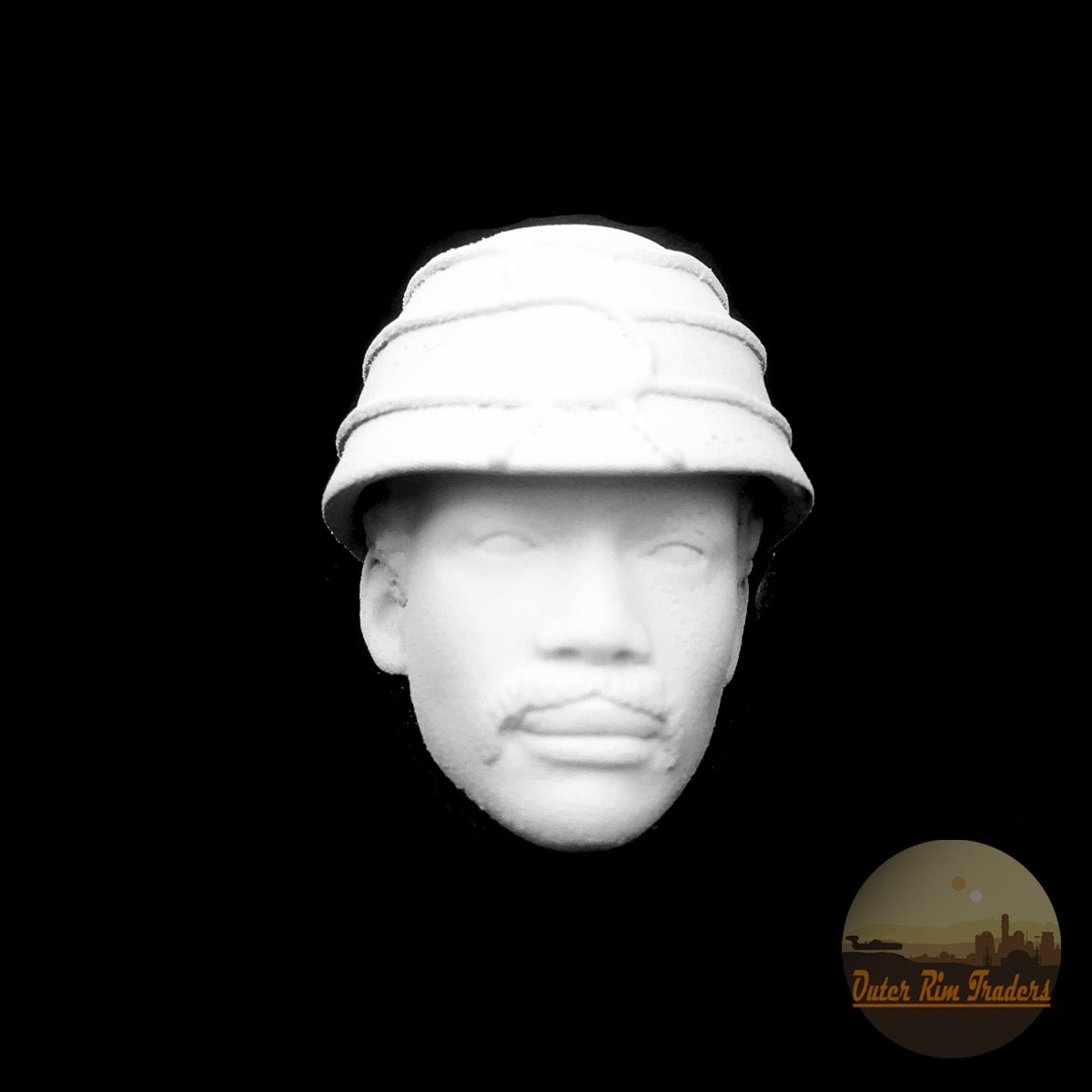 Image of Clouded African American with Hat