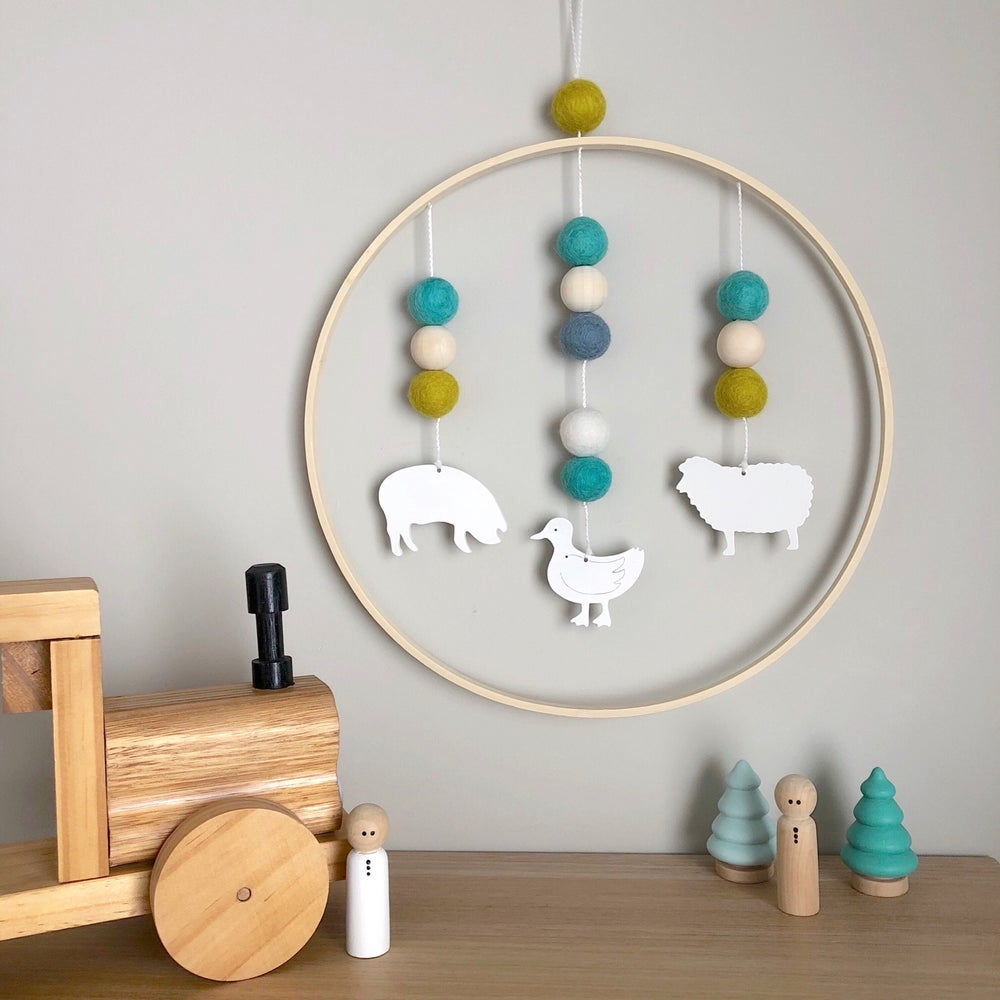 Image of Hanging Framed Picture Mobiles - 30cm