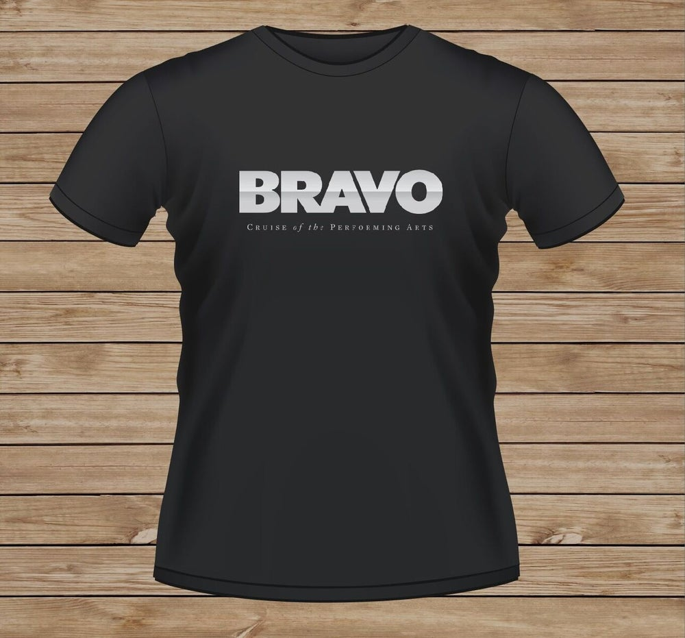 Image of Bravo T-Shirt - Black with Silver Print