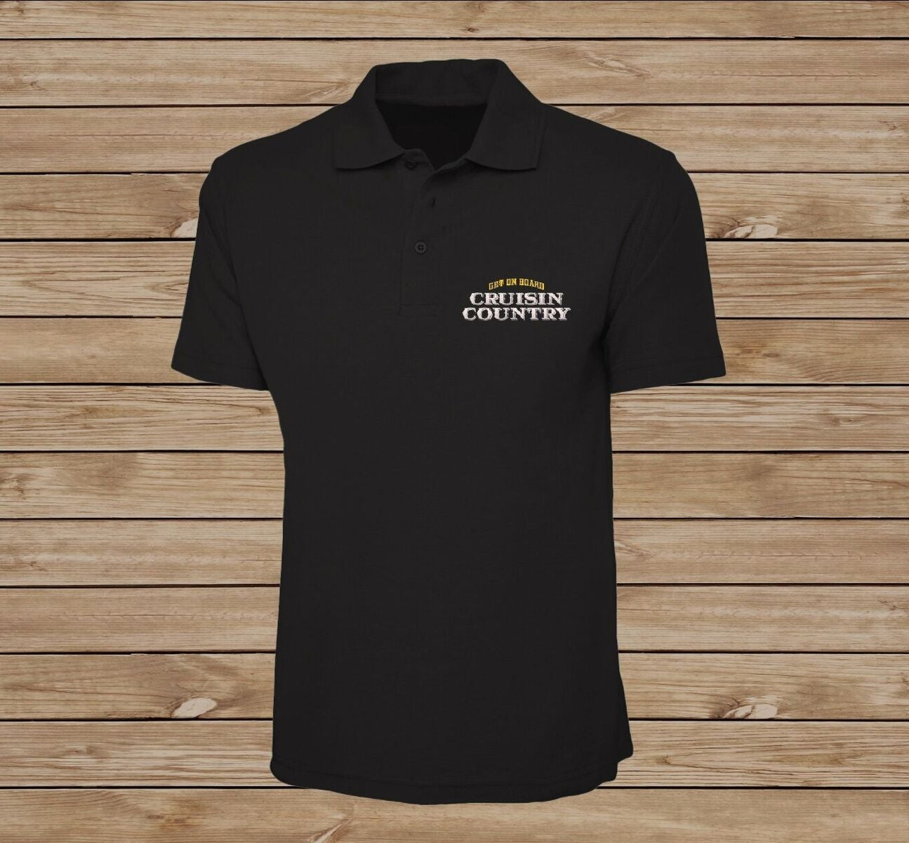 Image of Cruisin' Country Embroidered Polo Shirt