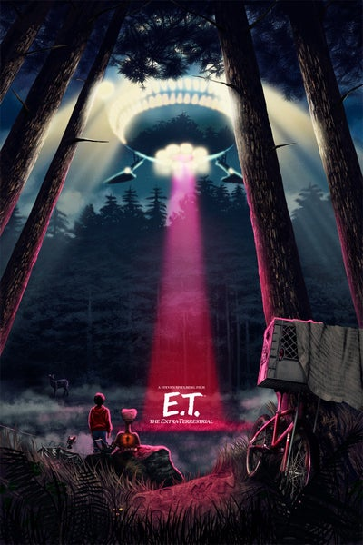 """Image of E.T. Night 16x24"""" (officially licensed – limited artist proof copies)"""