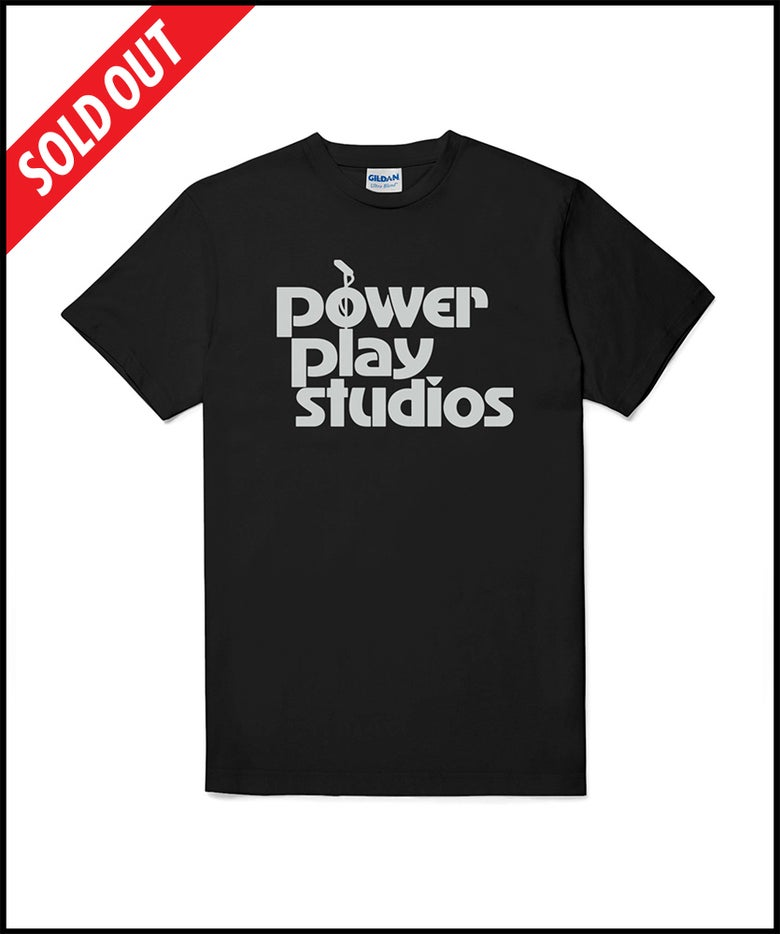 "Image of ""Power Play Studios"" logo T-shirt (BLACK)"
