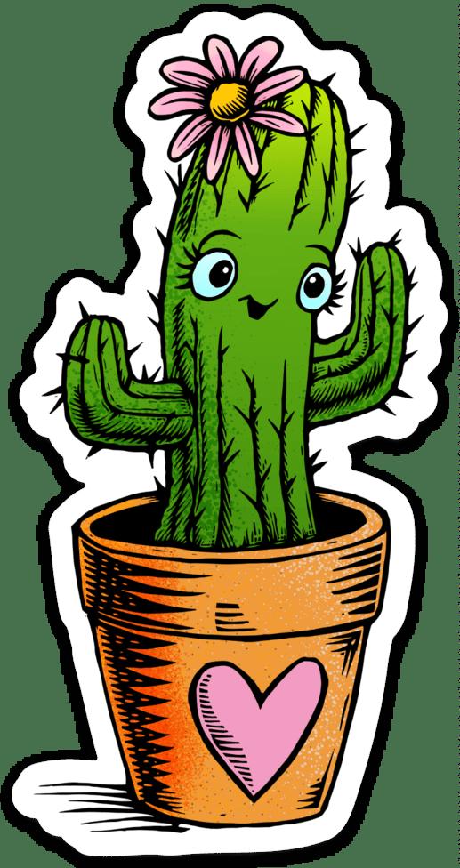 Cute Cactus Sticker
